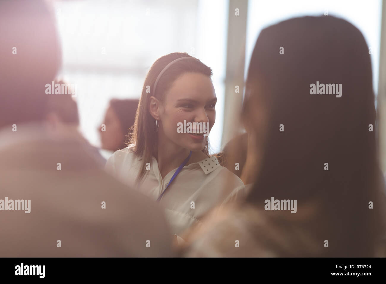 Young businessman attending a business seminar - Stock Image