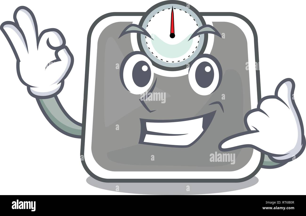Call me weight scala isolated with in cartoons - Stock Image