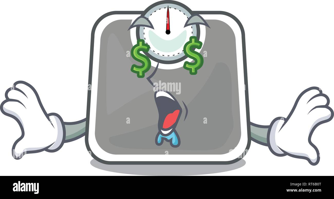 Money eye weight scala isolated with in cartoons - Stock Image
