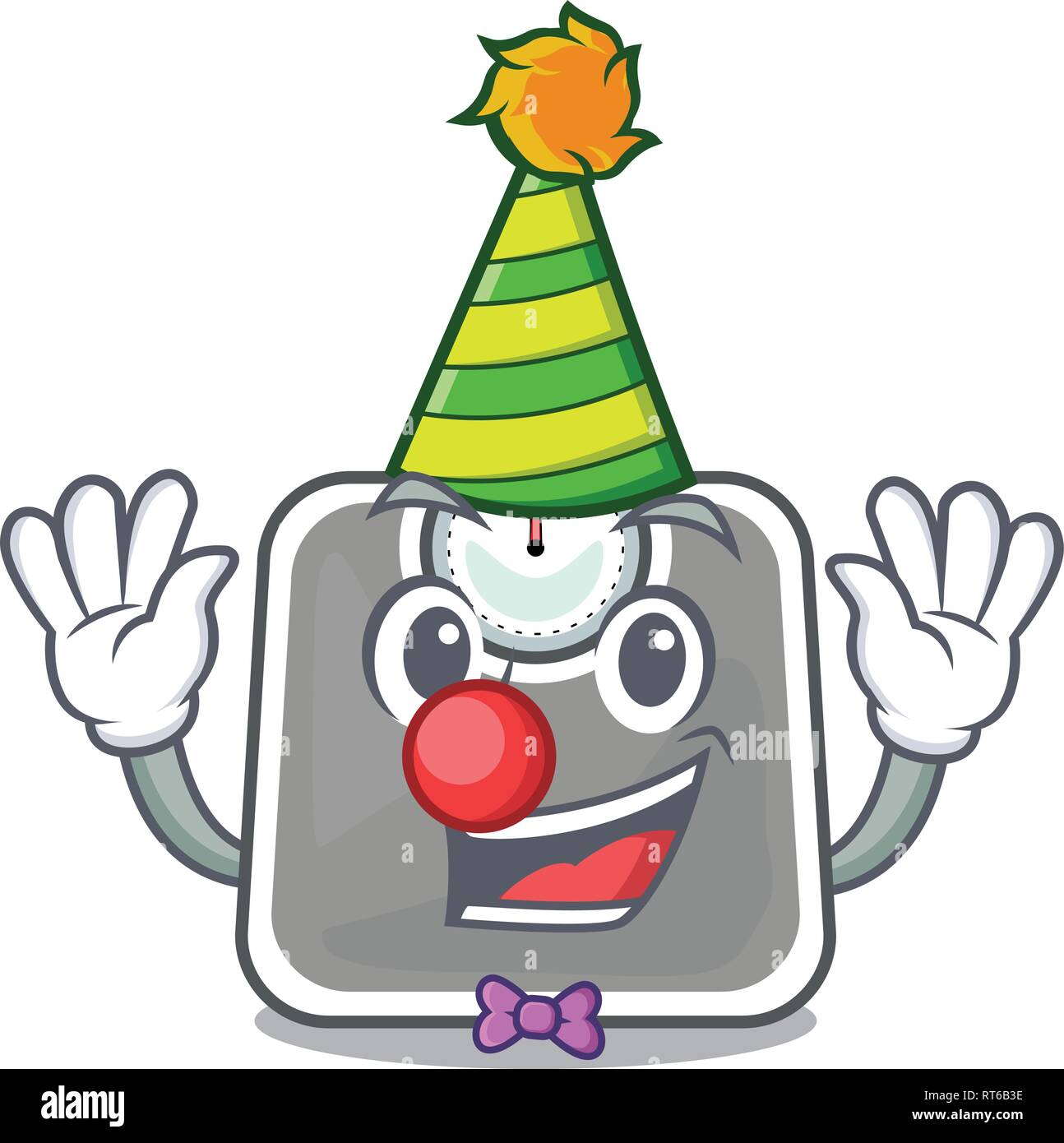 Clown weight scala isolated with in cartoons - Stock Image