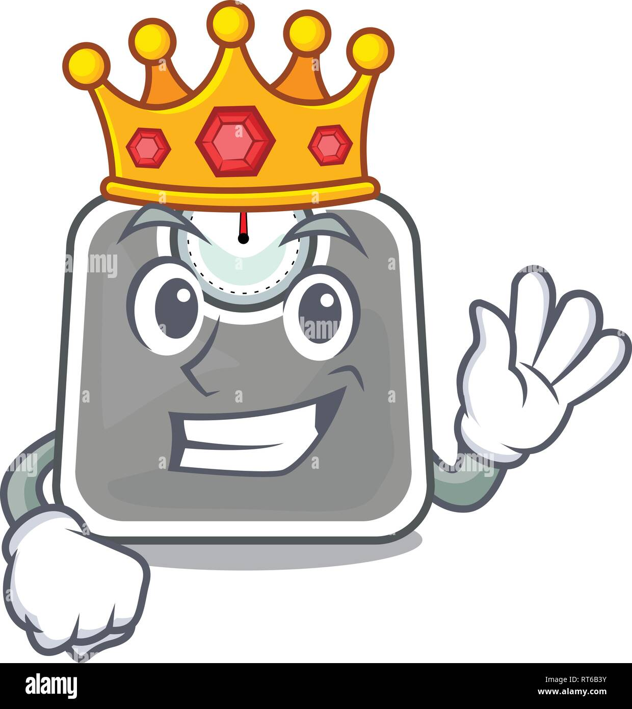 King weight scala isolated with in cartoons - Stock Image