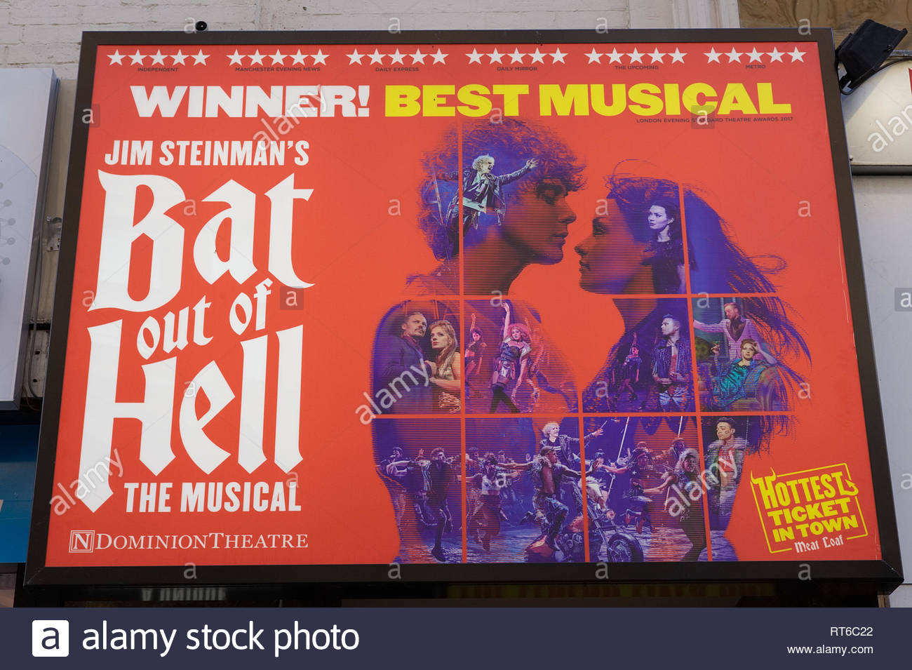 Bat out of Hell promotional poster - Stock Image
