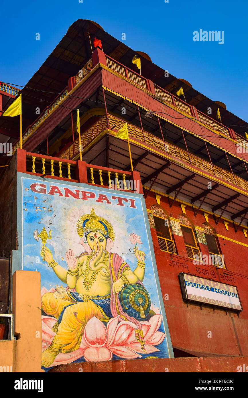 Ganpati Guest House, Varanasi, India Stock Photo
