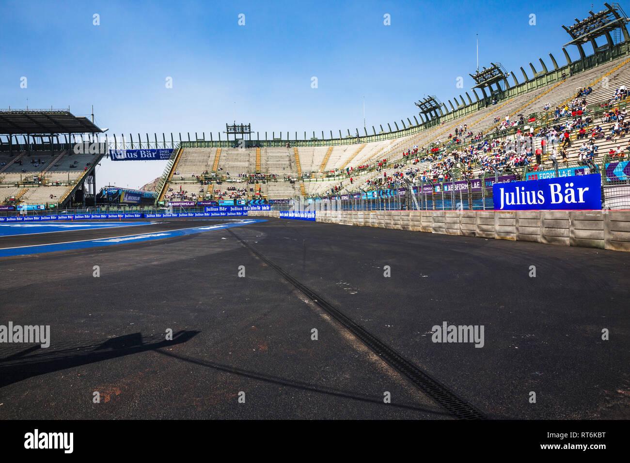 Mexico City, Mexico - February 16, 2019: Autodromo Hermanos
