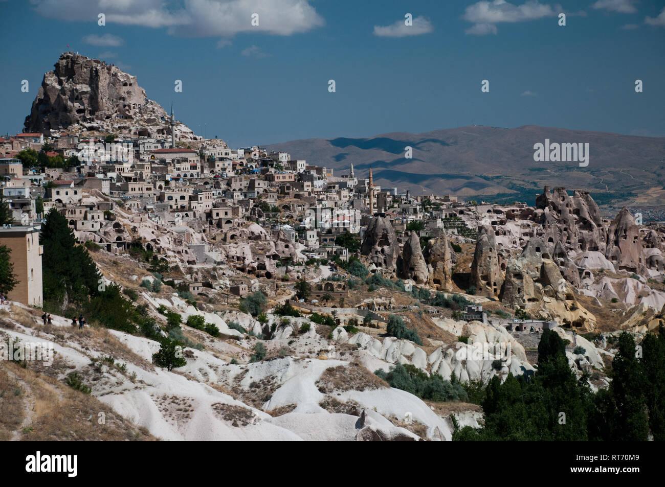 Asia, Turkey, Anatolia, Nevsehir Province, Cappadocia, Uchisar - Stock Image