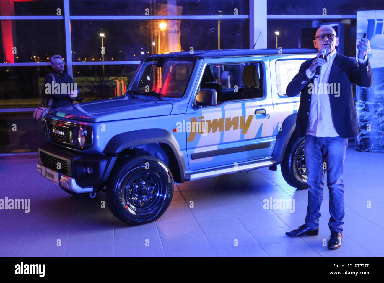 gdansk, poland feb. 27th, 2019 new model of the suzuki jimny car