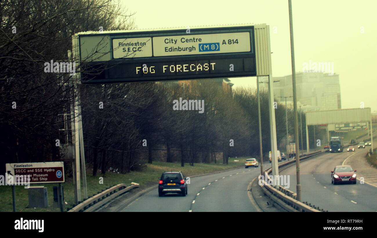 scotland motorway sign uk stock photos  u0026 scotland motorway