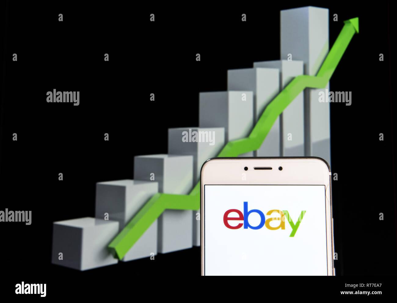 Hong Kong 10th Feb 2019 American Multinational E Commerce Online Auction And Shopping Company Ebay Logo