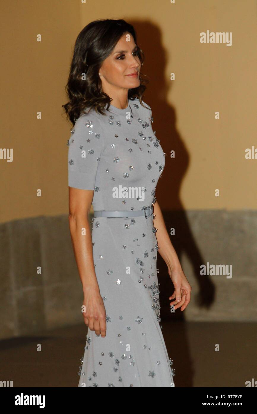 Madrid, Spain  28th Feb, 2019  Spanish Queen Letizia attend a