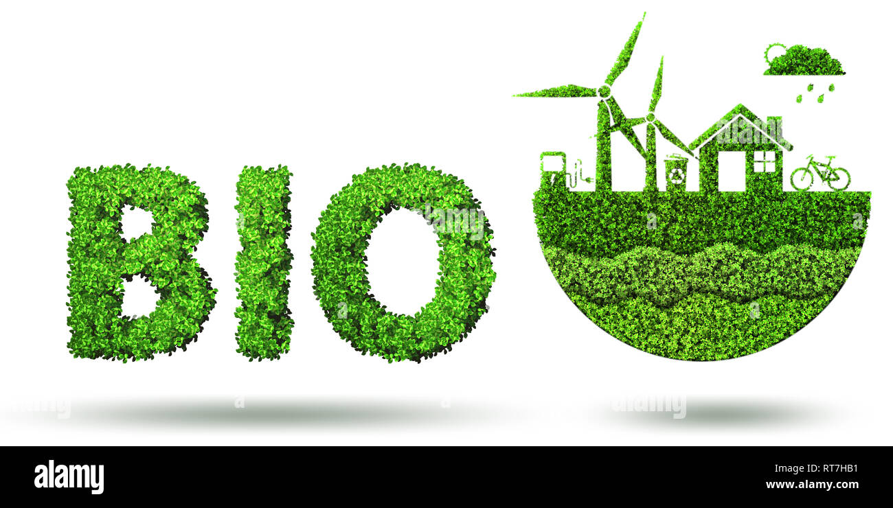 Ecological concept of clean energy - 3d rendering - Stock Image
