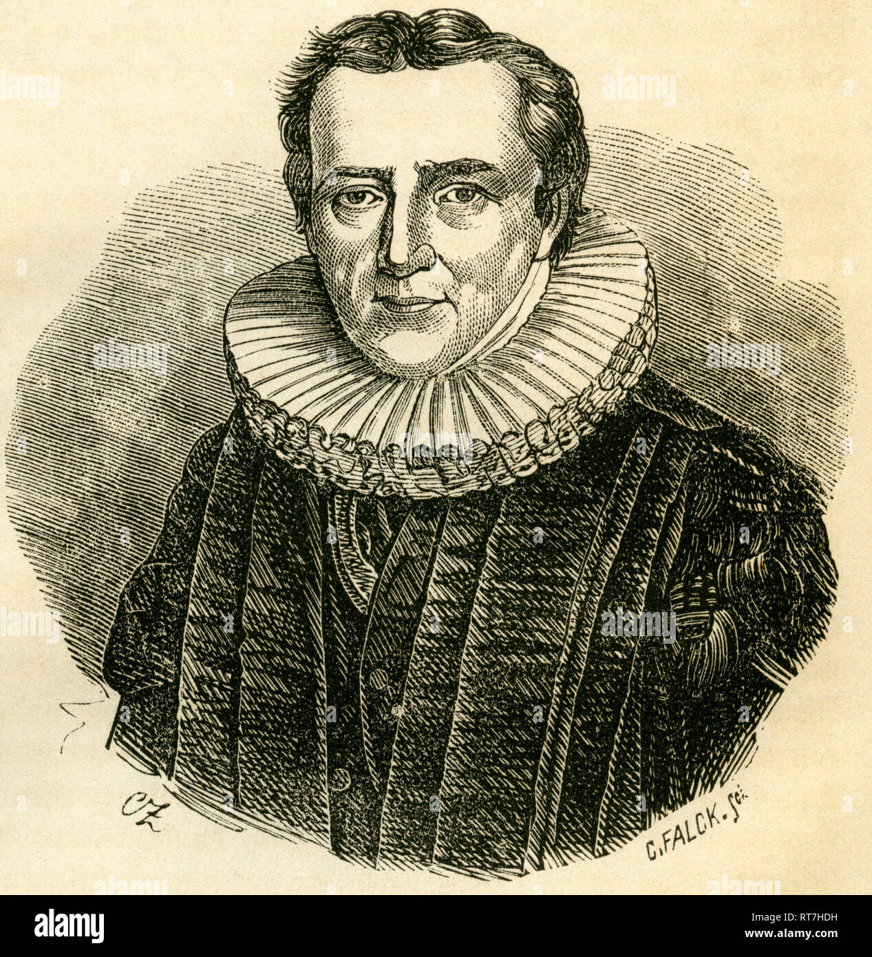 Abendroth, Amandus August (Augustus), 1767-1842, Herman jurist and politician, mayor of Hamburg, illustration from: 'Geschichte der Stadt Hamburg', (history of Hamburg), by Dr. J.G. Gallois, published by Ackermann and Wulff, Hamburg, 1866., Additional-Rights-Clearance-Info-Not-Available - Stock Image