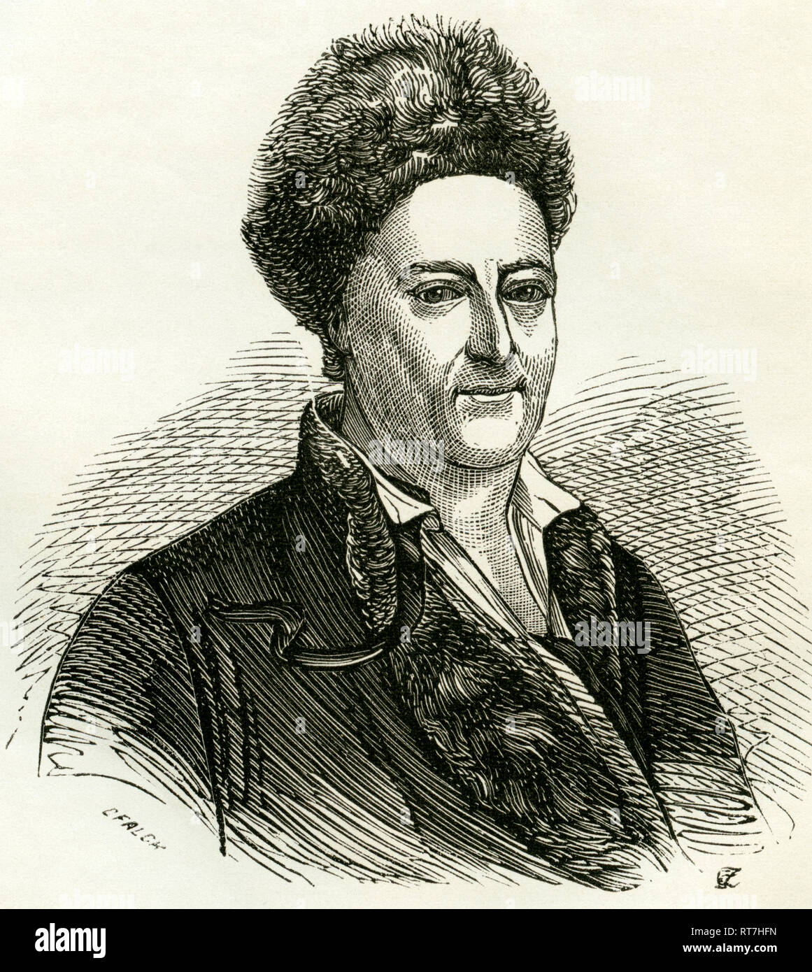 Hagedorn, Friedrich von (Friederich), German poet of the Rococo period, born and died in Hamburg, illustration from: 'Geschichte der Stadt Hamburg ' (history of Hamburg), published by Ackermann and Wulff, Hamburg, 1866., Additional-Rights-Clearance-Info-Not-Available - Stock Image