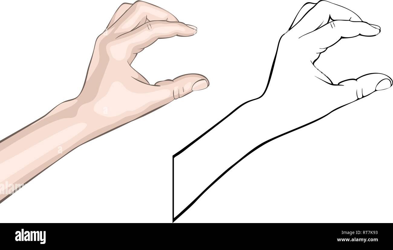 Human brush gesture - Stock Vector