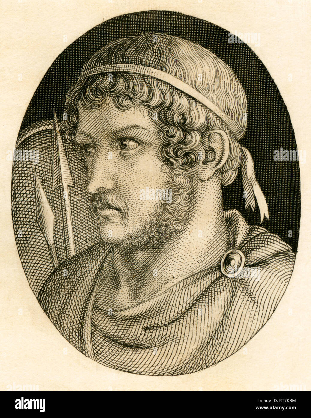 Gaius Marius, Roman general / strategist and statesman, copperplate engraving from Strahlheim, about 1840th., Artist's Copyright has not to be cleared - Stock Image