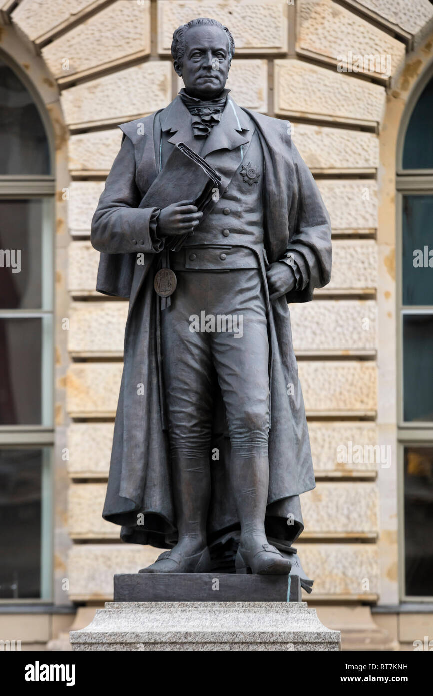 Karl August von Hardenberg, statue, Berlin, Germany, Additional-Rights-Clearance-Info-Not-Available - Stock Image