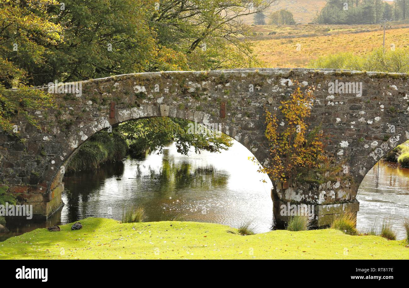 View of the East River Dart at Postbridge England - Stock Image