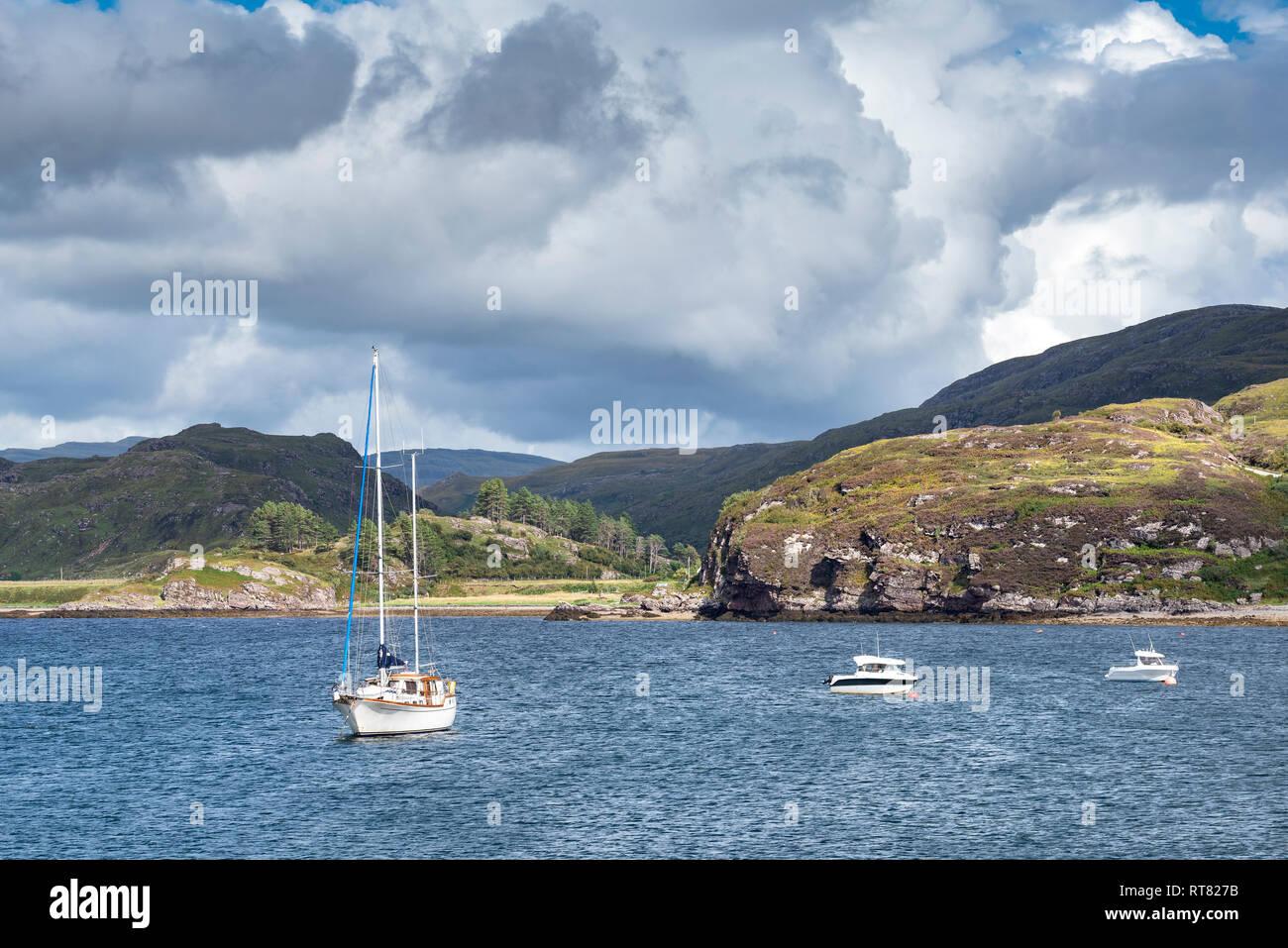 United Kingdom, Scotland, Sutherland, Caithness, Loch Kanaird - Stock Image