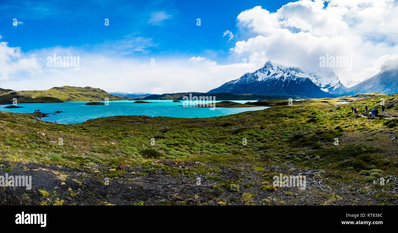 Chile, Patagonia, Torres del Paine National Park, Lago Nordenskjold Stock Photo