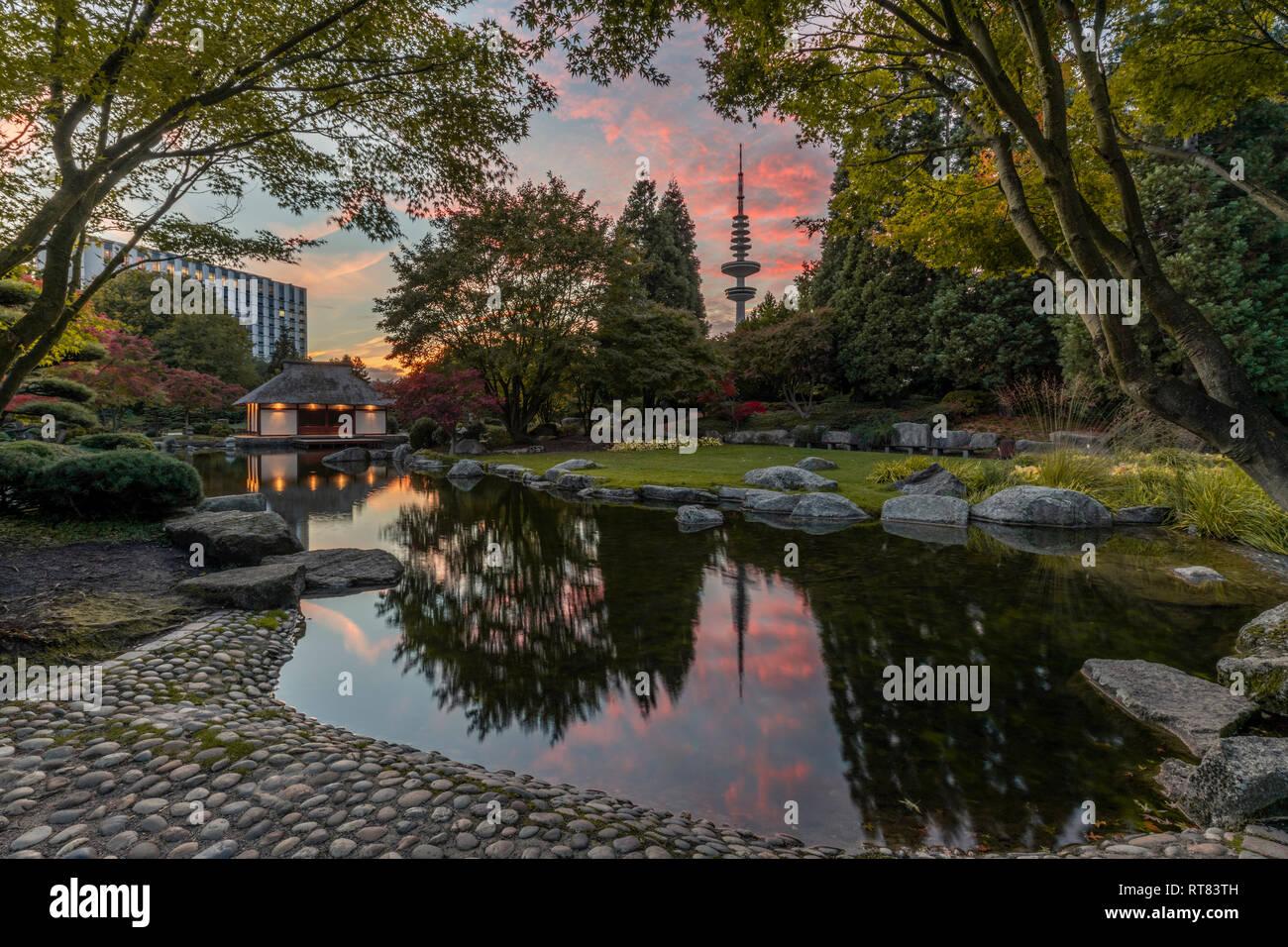 Germany Hamburg Japanese Garden At Planten Un Blomen Stock Photo