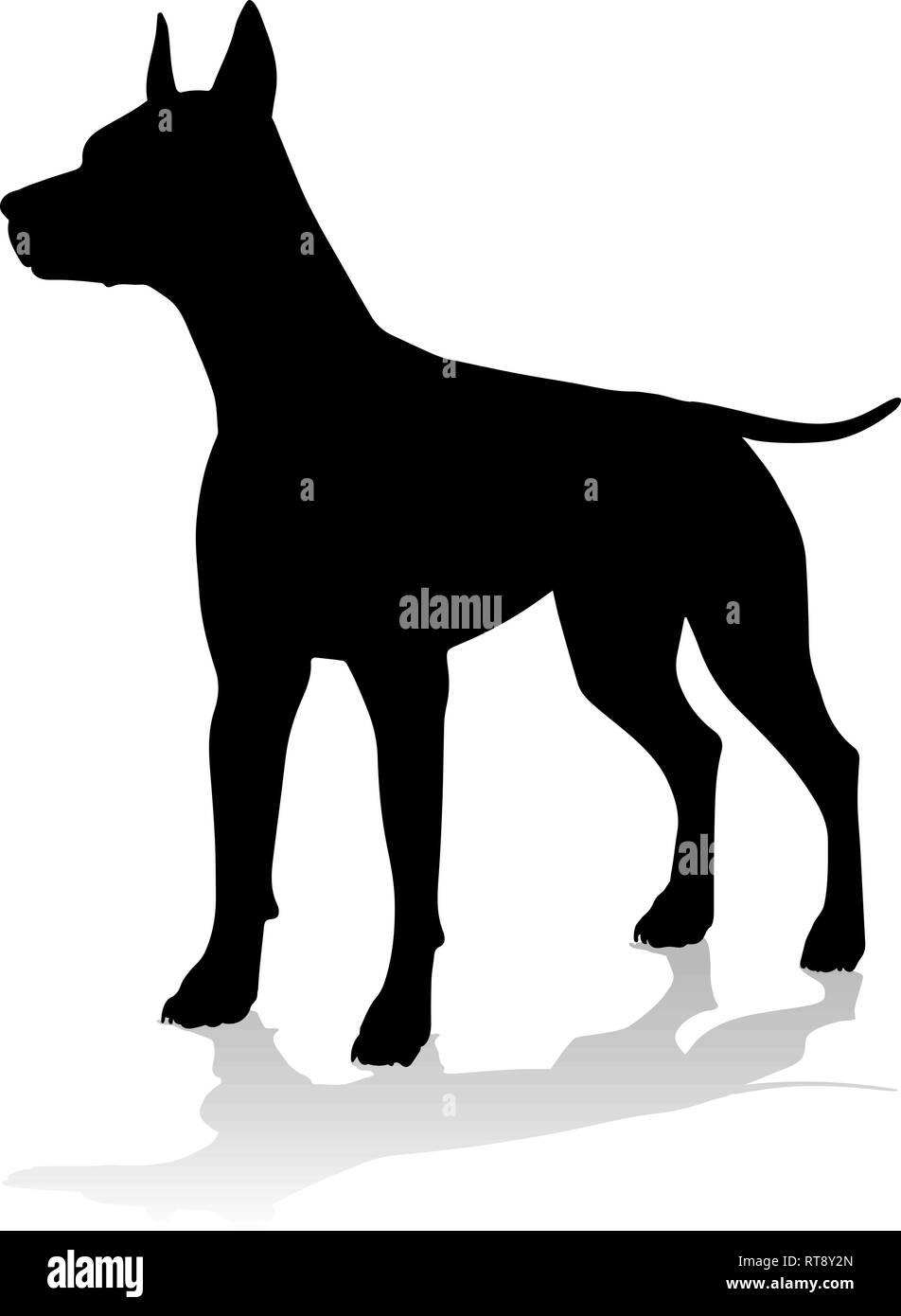 Dog Silhouette Pet Animal - Stock Vector