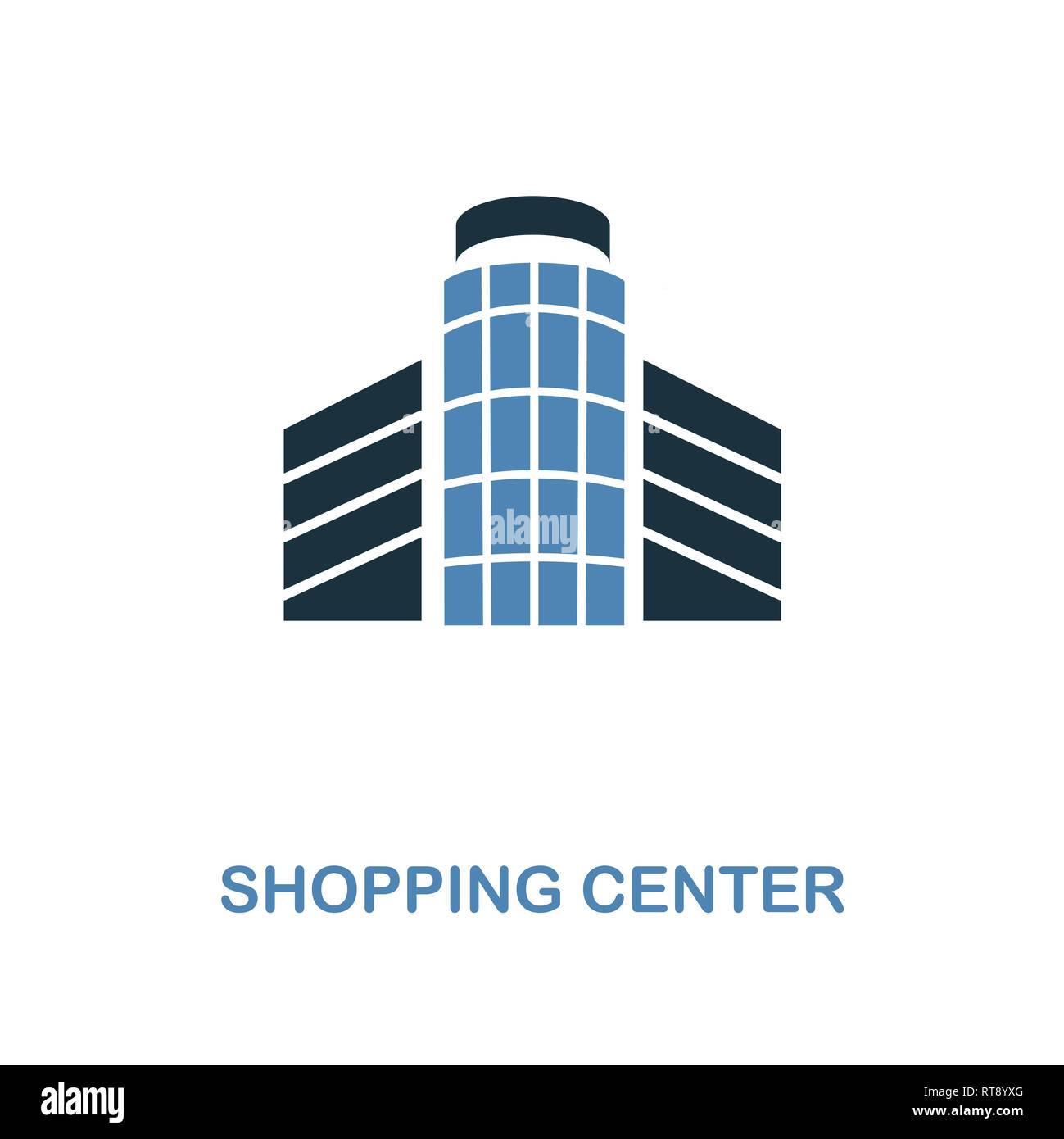 Shopping Center icon. Monochrome style design from shopping center sign collection. UI. Pixel perfect simple pictogram shopping center icon. Web desig - Stock Image