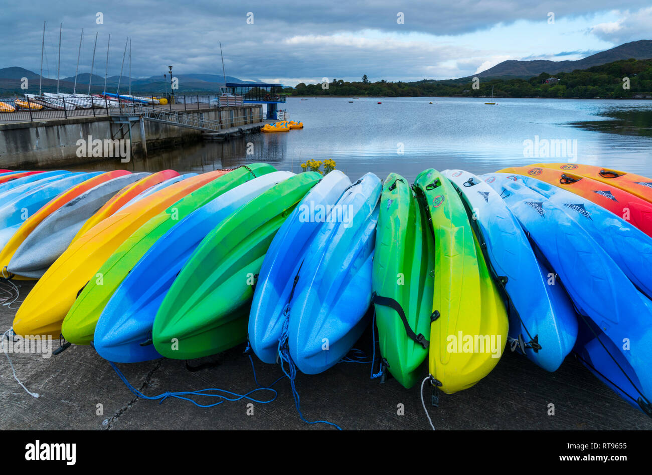Kayaking, Kenmare Bay, Ring of Kerry Trail, County Kerry, Ireland, Europe - Stock Image