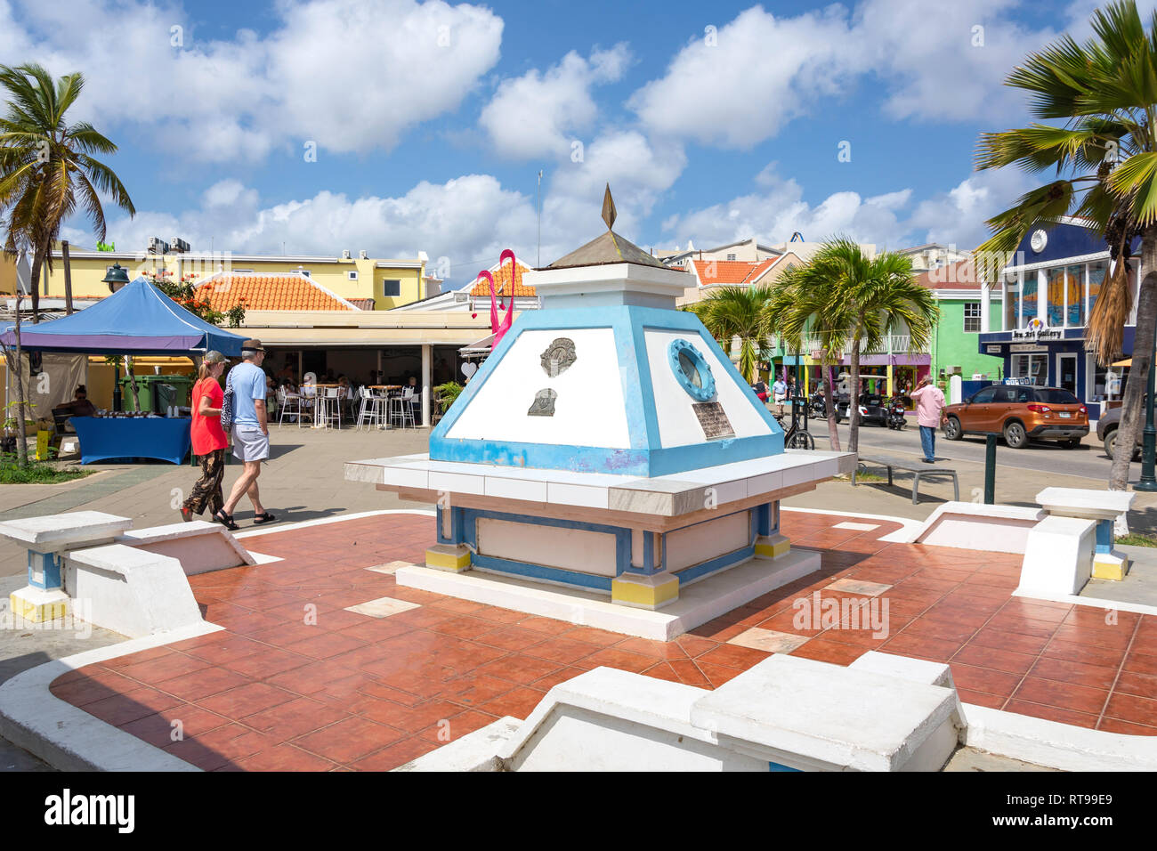 Plaza Wilhelmina, Kralendijk, Bonaire, ABC Islands, Leeward Antilles, Caribbean Stock Photo