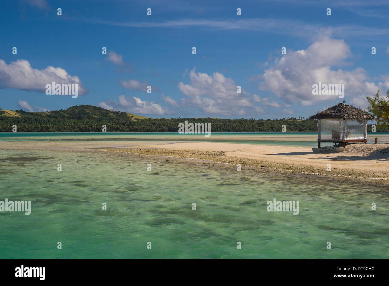 Cook Islands, Rarotonga, Aitutaki lagoon - Stock Image