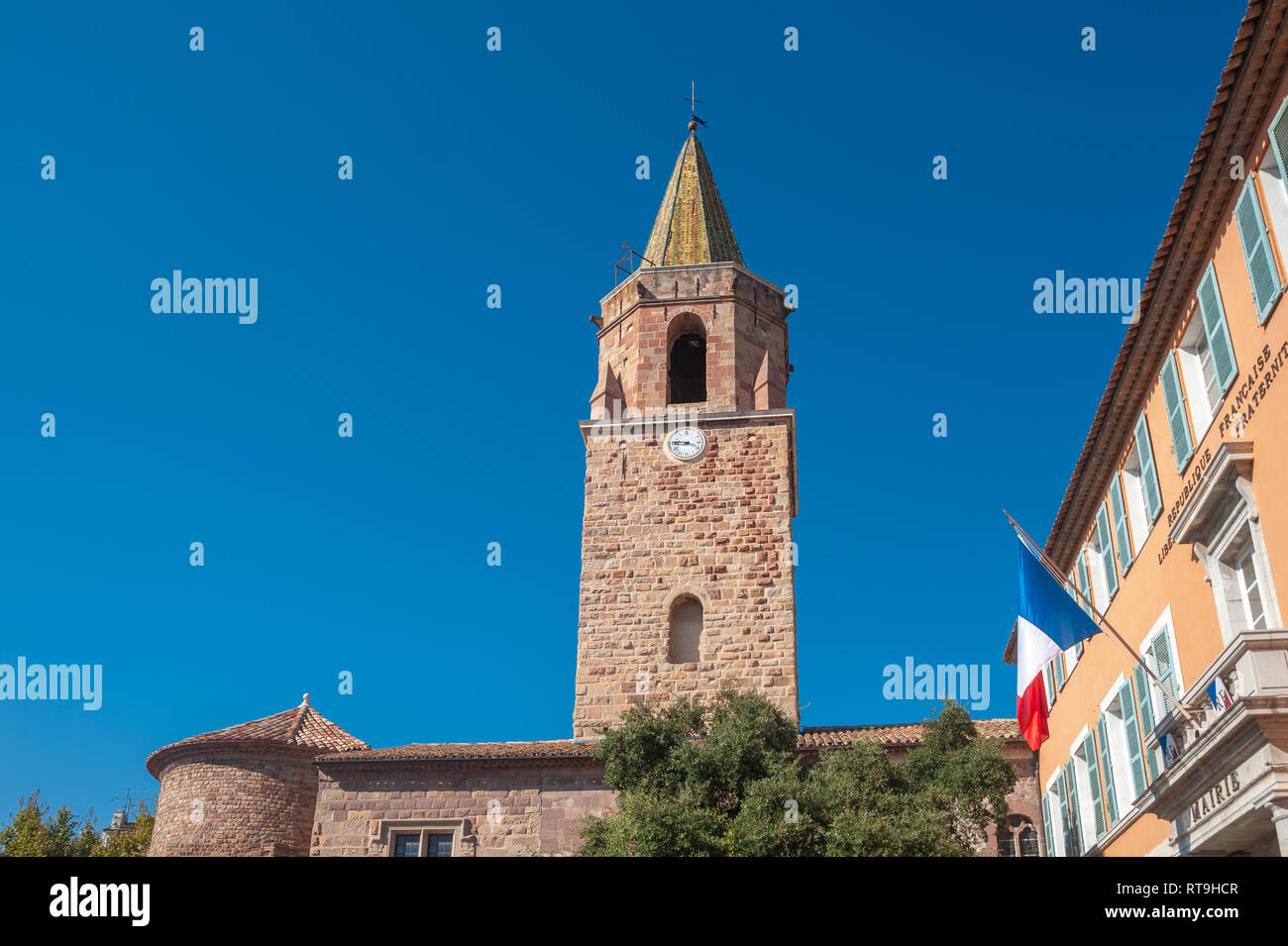 Cathedral Saint-Leonce, Fréjus, Var, Provence-Alpes-Cote d`Azur, France, Europe - Stock Image