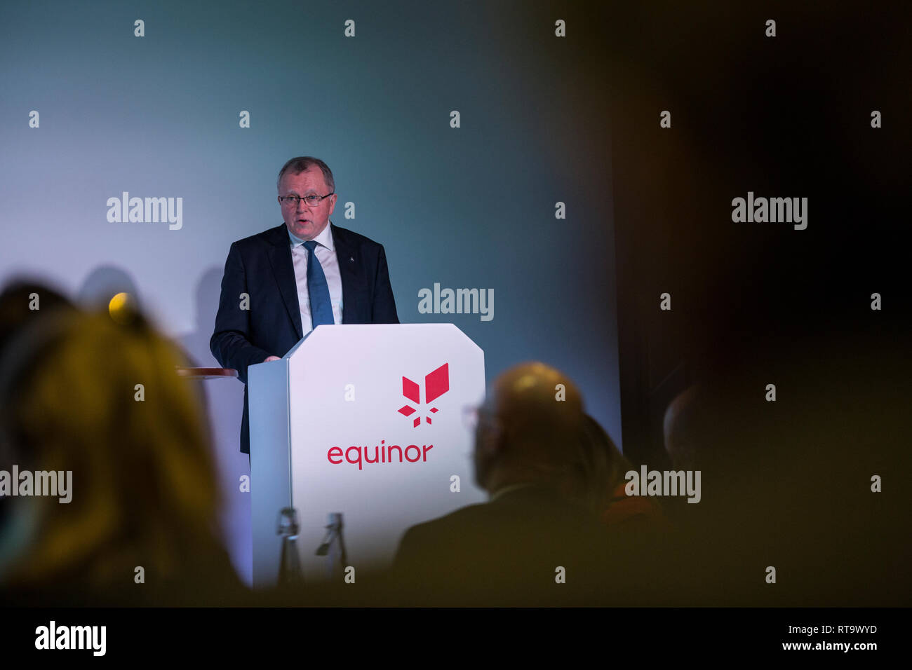 Eldar Sætre. President and Chief Executive Officer (CEO) of Equinor at the Capital markets Day in London, England, UK Stock Photo