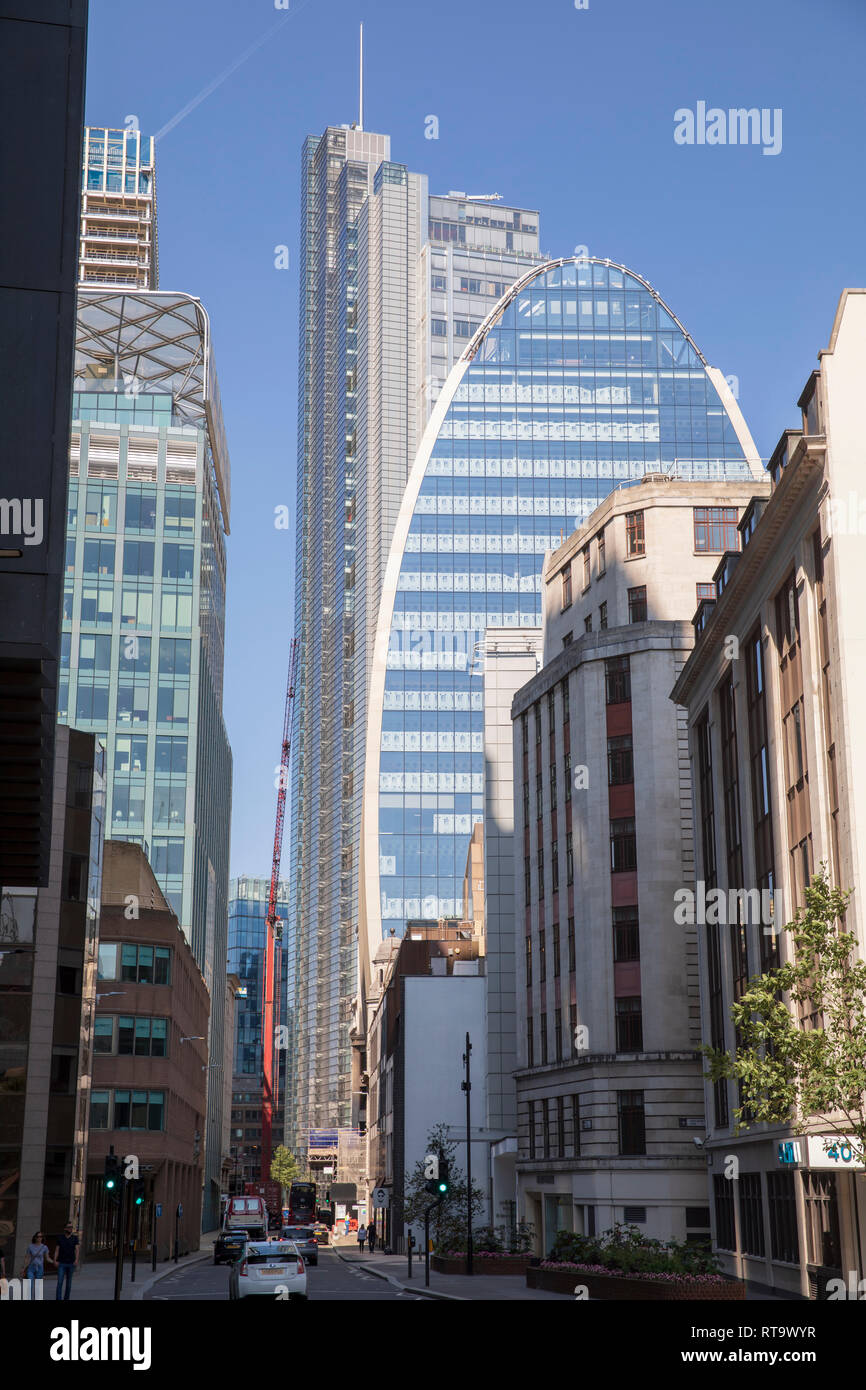 70 St Mary Axe (a.k.a The Can of Ham) in London, England. - Stock Image