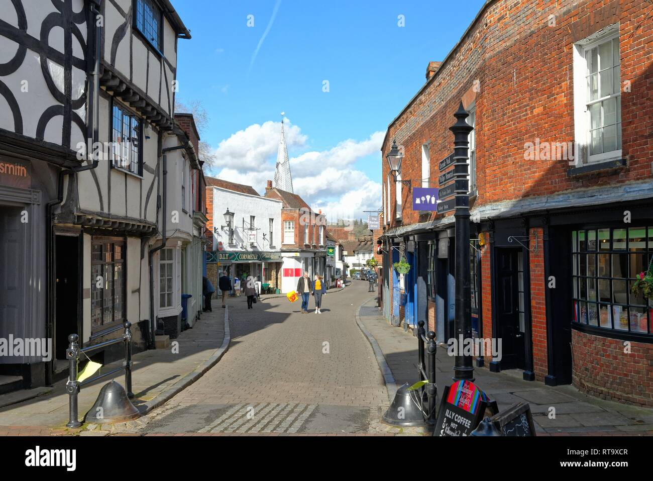 Centre of the market town of Godalming Surrey England UK - Stock Image