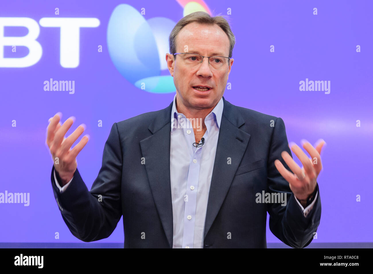 Philip Jansen, Chief Executive Officer of BT since 1st February 2019. Stock Photo