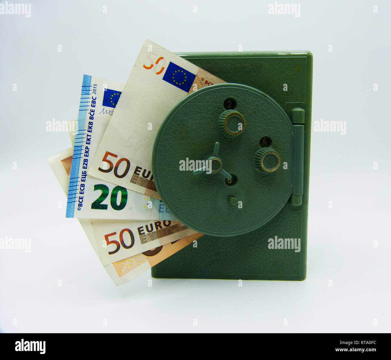 Save and protect your money - Stock Image
