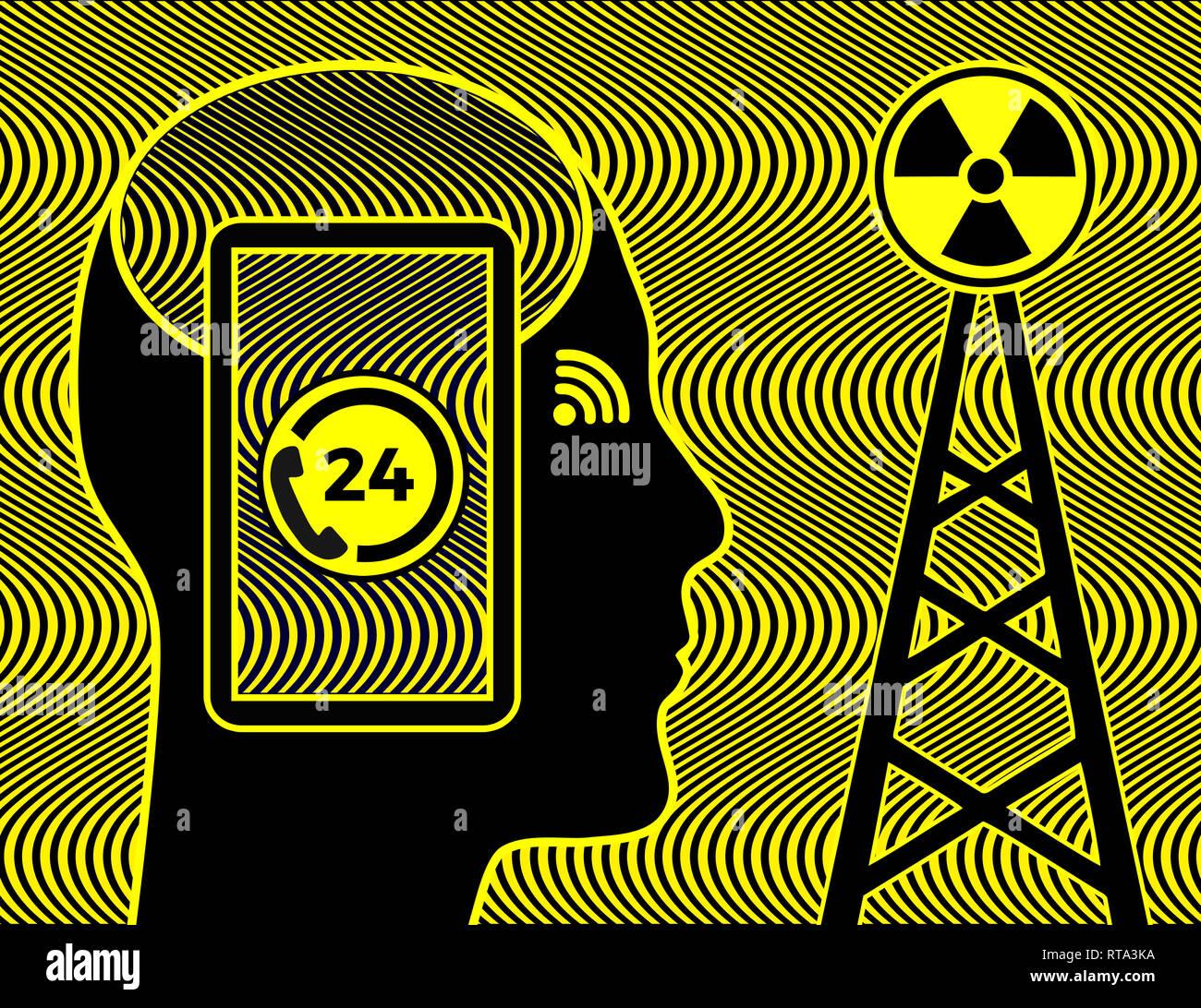 Dangerous Cell Phone Radiation Stock Photos Amp Dangerous