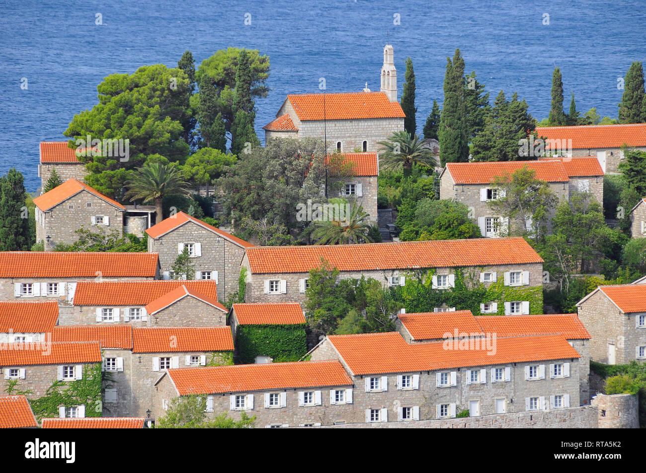 Sveti Stefan, Montenegro. - Stock Image
