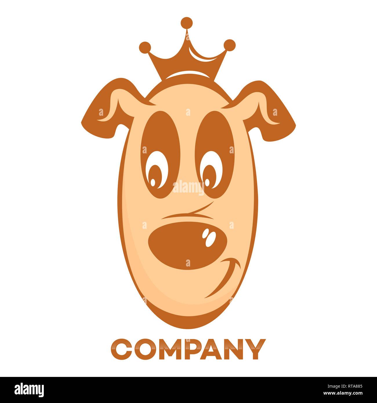 Pet dog logo - Stock Image