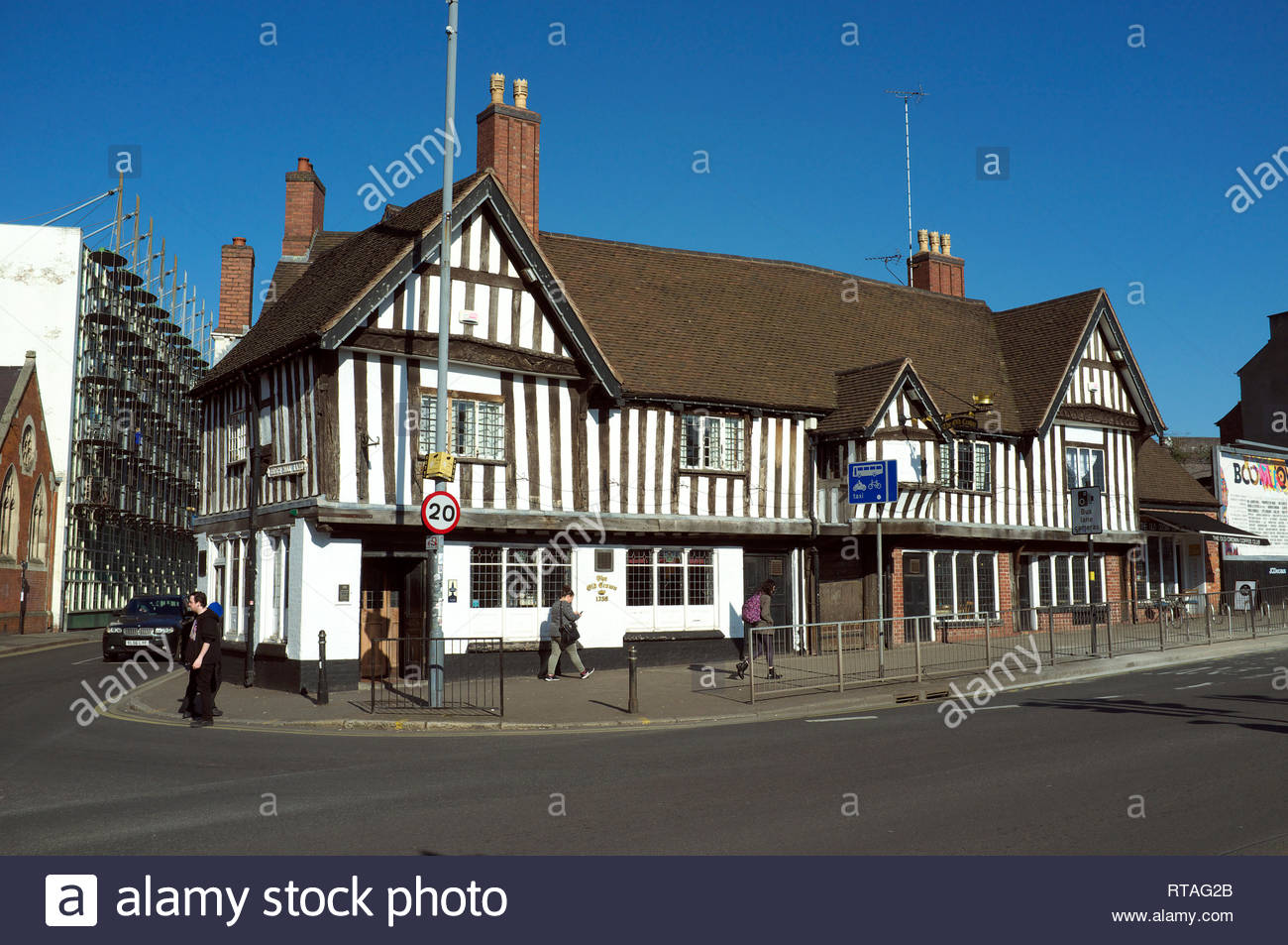The Old Crown public house, in Digbeth, central Birmingham, West Midlands, UK. Stock Photo