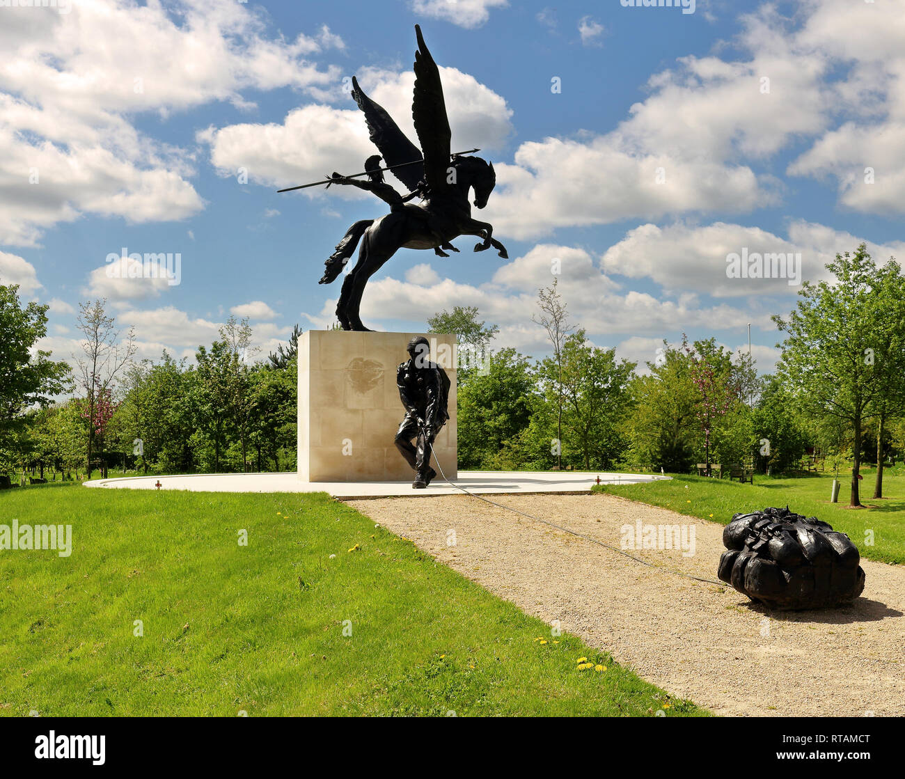 Parachute Regiment Memorial at the National Memorial Arboretum Staffordshire, England - Stock Image