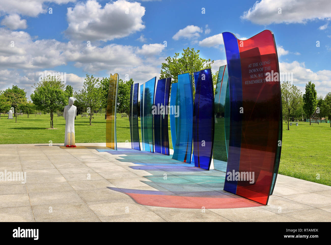 Naval services Memorial at the National Memorial Arboretum Staffordshire - Stock Image