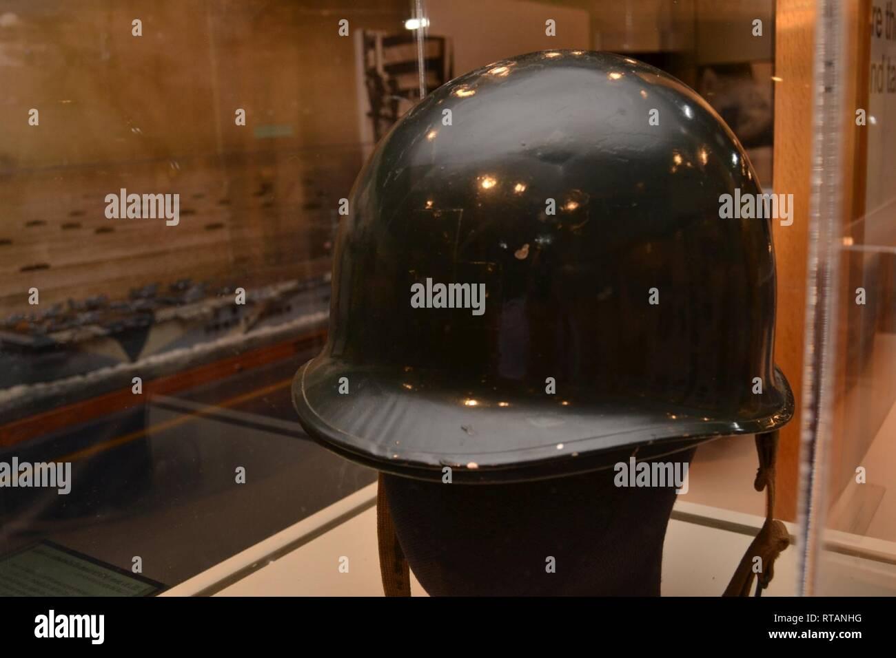 b7992a3f91537 U.S. Navy M1 Steel Helmet, 1945. Accession # HRNM 1993-209D-003