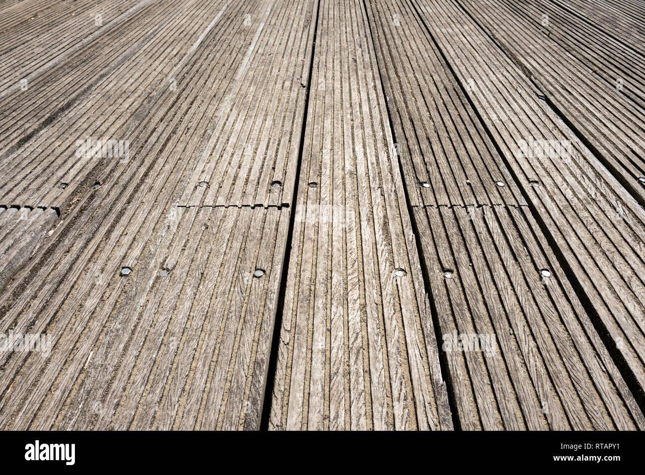 wooden floor planks for background use - Stock Image