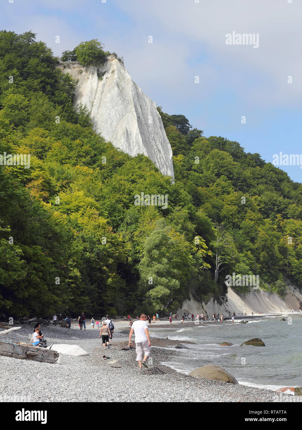 The Königsstuhl chalk cliff on the island of Rügen Stock Photo