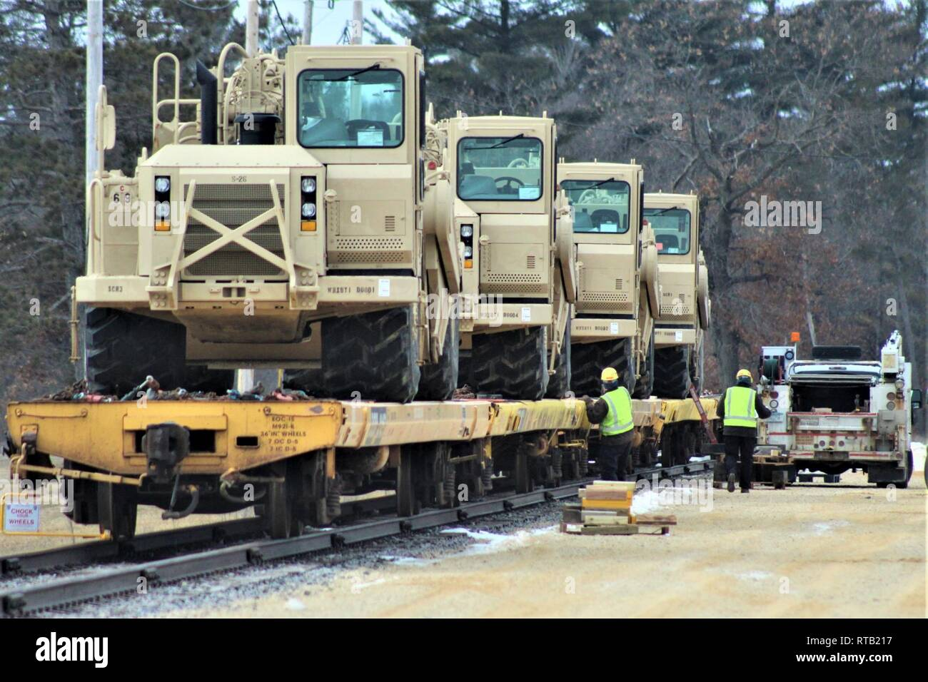 Military vehicles and equipment with the 389th Engineer