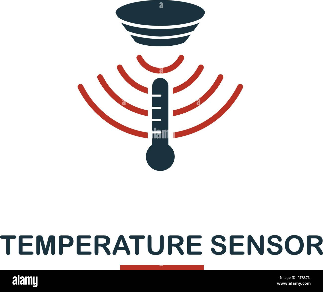 Temperature Sensor icon from sensors icons collection. Creative two colors design symbol temperature sensor icon. Web design, apps, software usage. UI - Stock Vector