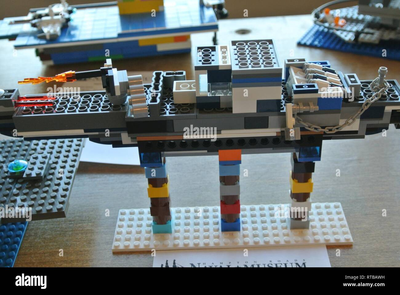 Pictured are some of the entries in the made at home LEGO brick