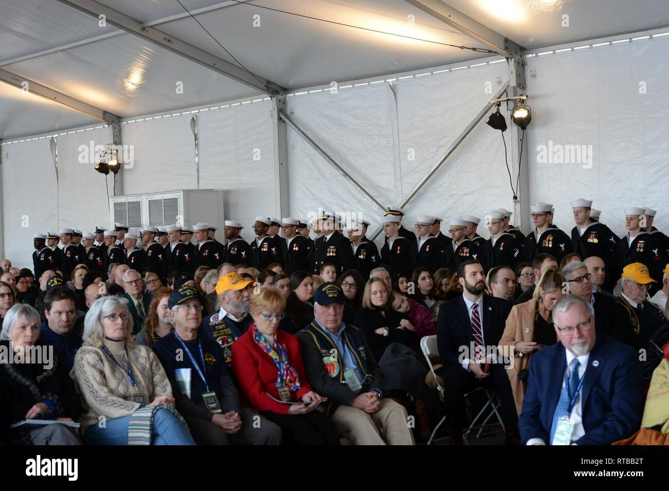 Groton Conn Feb 2 2019 Sailors Stand In Formation During The