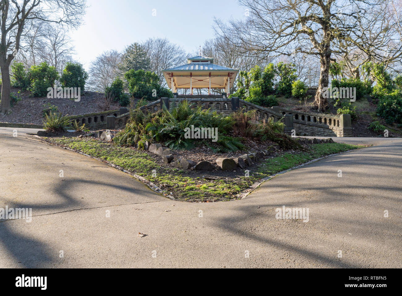 The New Bandstand in Beaumont Park, Huddersfield - Stock Image