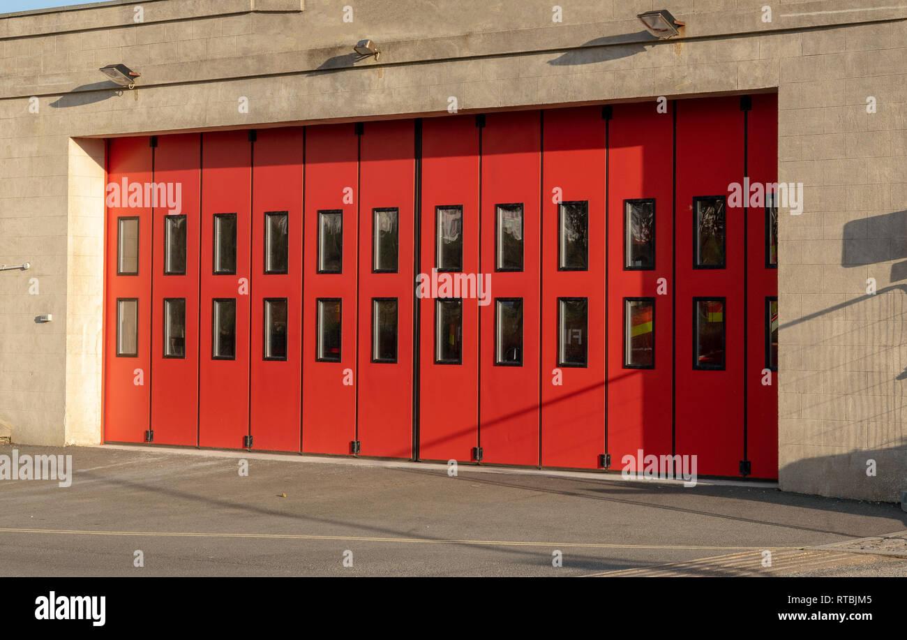 Fire Truck Garage Door Stock Photos Amp Fire Truck Garage