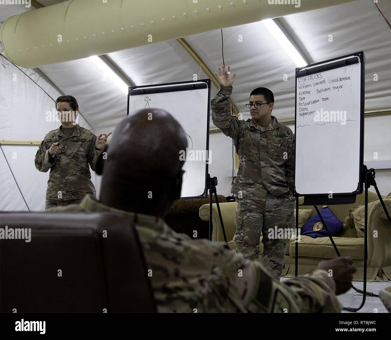 Spc  Johnathan Ramirez with the Special Troops Battalion